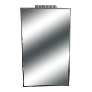 Art Deco Chrome Frame Wall Mirror For Sale