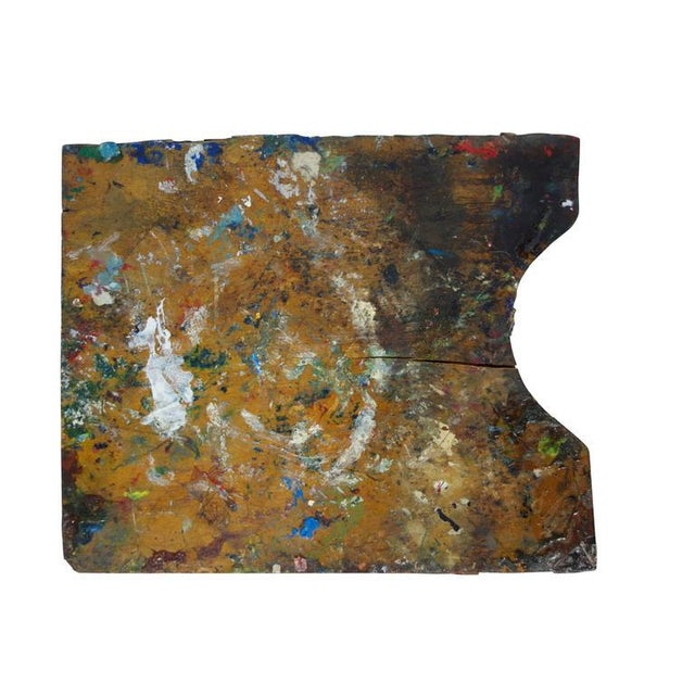 Blue Vintage Artist's Paint Palette For Sale - Image 8 of 8