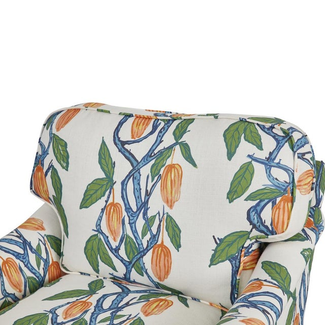 Blue 1990s Kavet Club Chairs in Ferrick Mason's Blue Orange Cacao - a Pair For Sale - Image 8 of 9