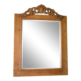 Antique English Pine Mirror For Sale