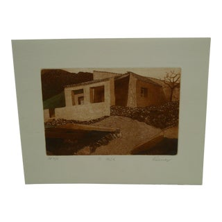 "Vintage Perry Macon Oliver ""La Casa"" Print For Sale"