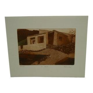 """Vintage Perry Macon Oliver """"La Casa"""" Print"""
