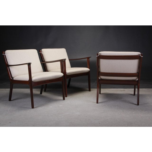 1960s 1950s Ole Wanscher Pj112 Lounge Chairs in Mahogany - a Pair For Sale - Image 5 of 7