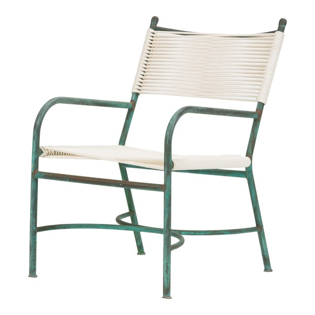 Robert Lewis Bronze Patio Lounge Chair For Sale
