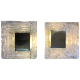 1960s Wall Lamp in Murano Glass by Carlo Nason for Mazzega - a Pair For Sale