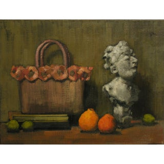 "Rubino Oil Painting ""Limes, Honeybells and the Councilman"", Sophisticated Contemporary Still Life For Sale"