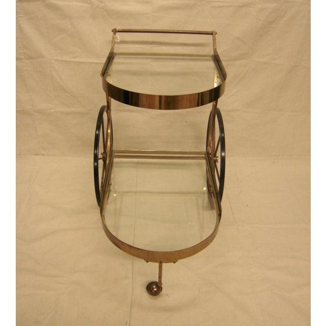 Deco Brass Bar Cart - Image 3 of 10