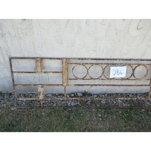 Victorian Antique Victorian Iron Gate Window Garden Fence Architectural Salvage Door #086 For Sale - Image 3 of 6
