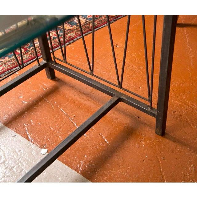A Deigo Giacometti Style Metal Base Desk - Image 7 of 8