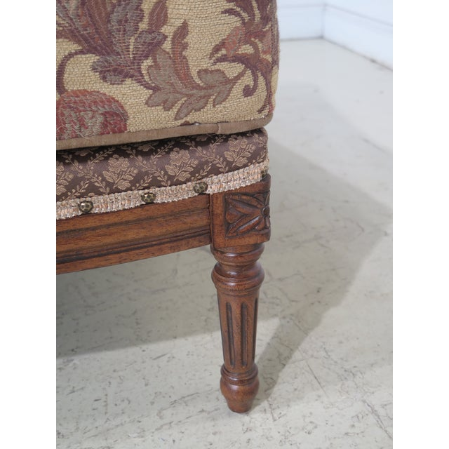 French Louis XV Style Loveseat with Ottoman - A Pair For Sale - Image 12 of 13