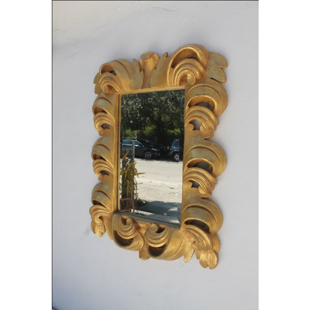 Dorothy Draper-Style Carved Wall Mirror - Image 10 of 11
