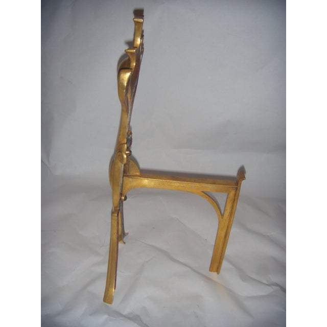 Bronze Art Nouveau Fireplace Andirons - A Pair - Image 5 of 6