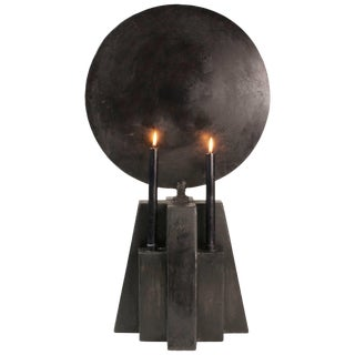 Burned Patinated Candleholder, Arno Declercq For Sale