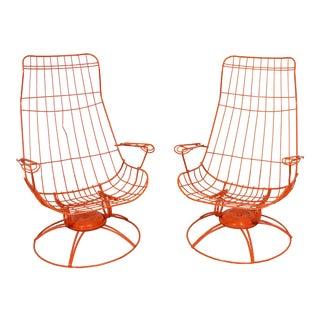 Pair of Mid-Century Modern Homecrest Riviera Siesta Swivel Rocker Lounge Chairs (Model 90) For Sale
