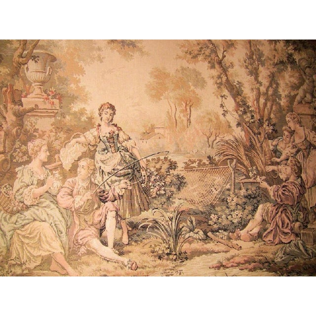 19c Flemish Wall Tapestry of Country Scene For Sale In Dallas - Image 6 of 7