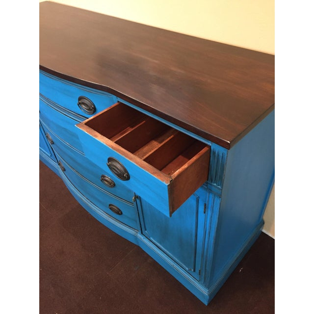 1940s Corinth Blue Credenza - Image 7 of 10