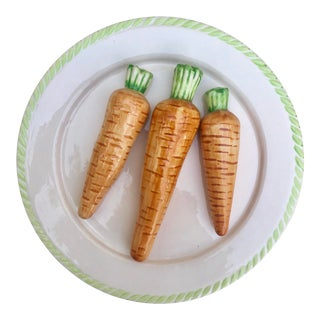 Trompe l'Oeil Carrot Plate For Sale