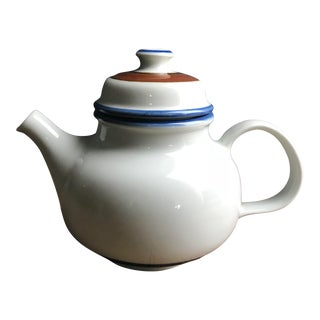 Mid 20th Century Vintage Finnish Arabia Ceramic Tea Pot For Sale