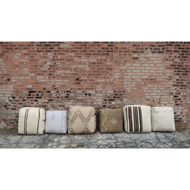 'San Antonio' Moroccan Floor Pillow For Sale - Image 4 of 6