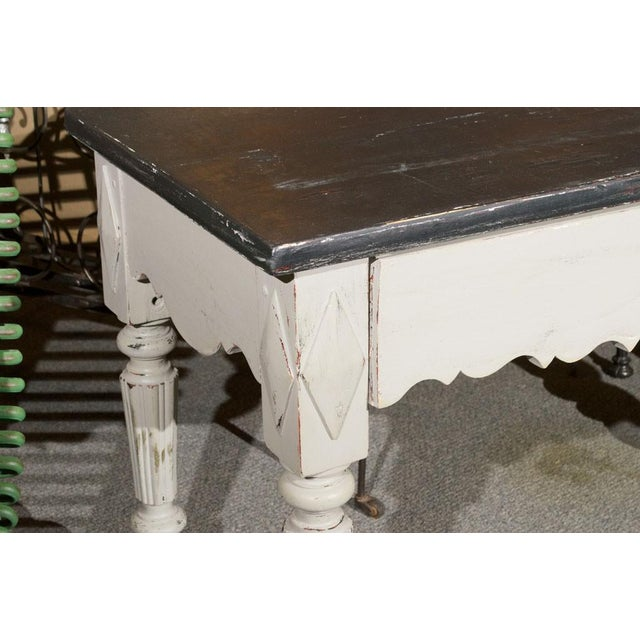 French Painted Wood Butcher Table - Image 3 of 7