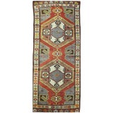 Image of Vintage Mid-Century Tribal Rug - 4′3″ × 11′4″ For Sale