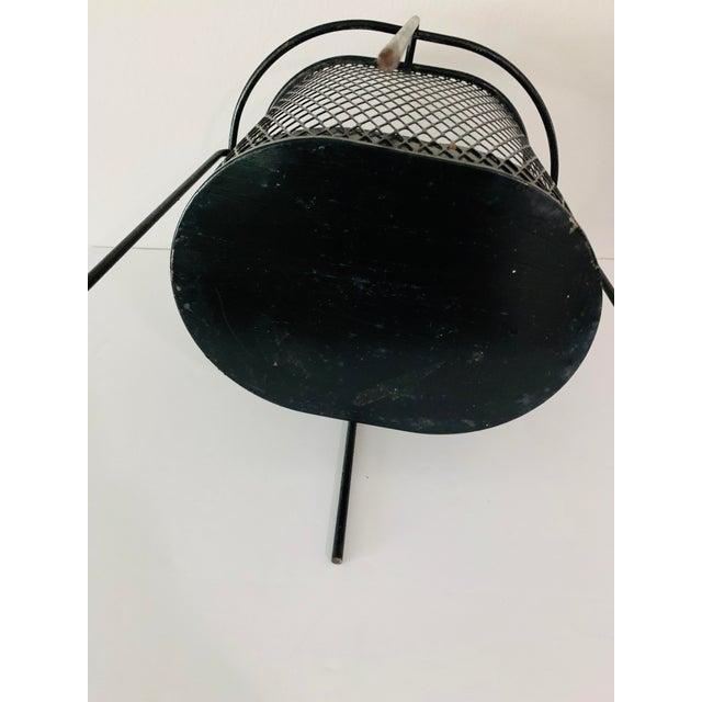 Metal Maurice Duchin Floating Iron Mesh Wastebasket Trash Can For Sale - Image 7 of 12