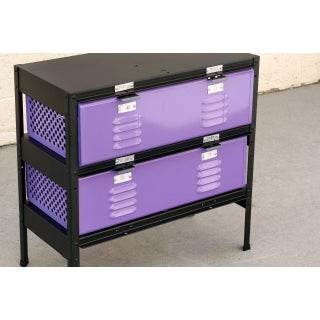 2 X 2 Locker Basket Unit in Lilac and Matte Black, Custom Made to Order Preview