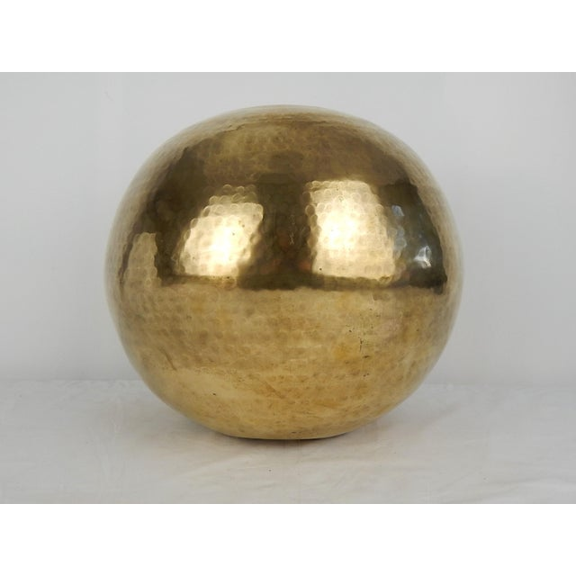 C. 1970s Hammered Brass Vase For Sale - Image 4 of 9