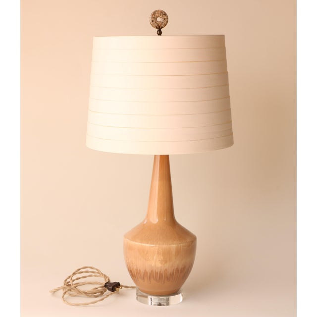 Royal Haeger Haeger Drip Glazed Table Lamp For Sale - Image 4 of 7