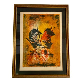 1964 Hoi Lebadang Signed and Numbered Lithograph For Sale
