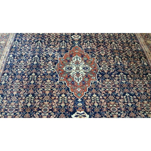 Early 20th Century Antique Persian Malayer Handmade Rug - 7′3″ × 10′6″ - Size Cat. 6x9 8x10 For Sale - Image 4 of 7