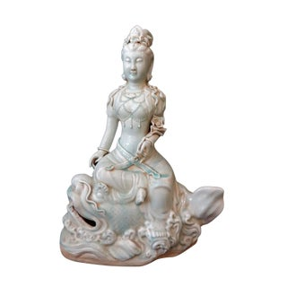 LG Celadon Porcelain the figure Of A Kuan Yin