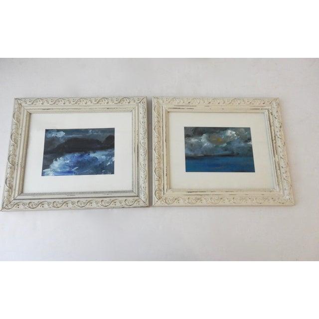 Framed Seascape Acrylic Paintings - A Pair | Chairish