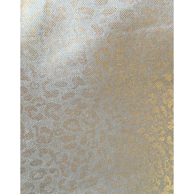 Tarnished Gold Leopard Linen - 10 Yards - Image 6 of 6