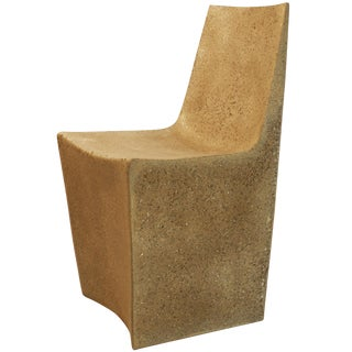 Cast Resin 'Stone' Dining Chair, Aged Stone Finish by Zachary A. Design For Sale
