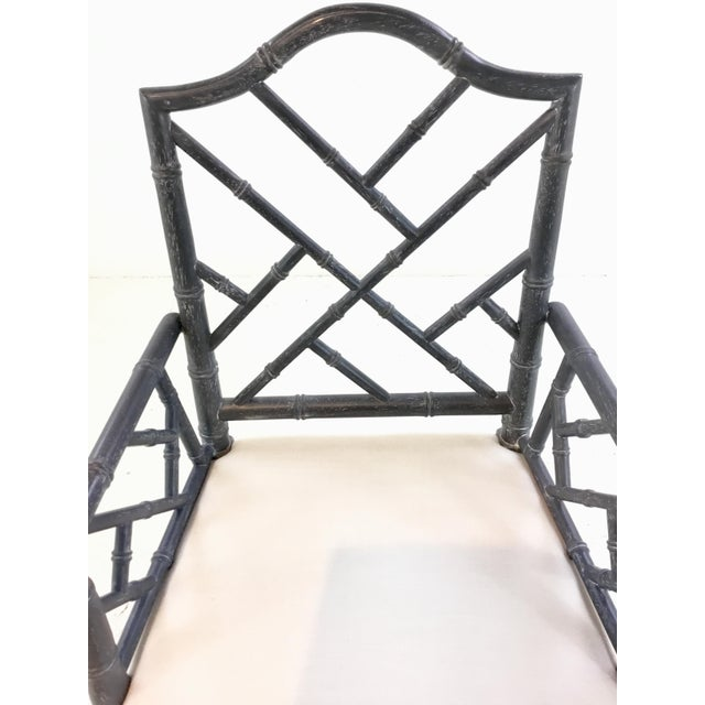 Worlds Away Worlds Away Modern Chippendale Style Gray Arm Chair For Sale - Image 4 of 7