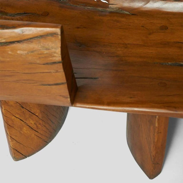 Wood Tete a Tete Bench by Hugo Franca For Sale - Image 7 of 9