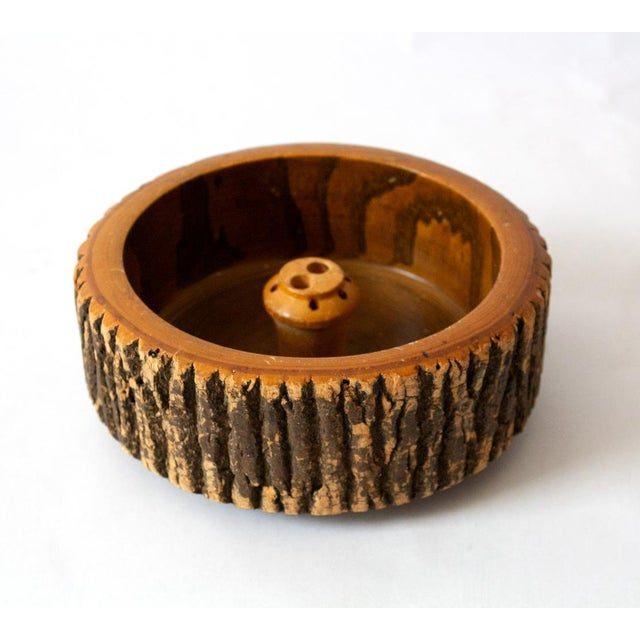 1940s Vintage Circular Wood Nut Bowl For Sale In Dallas - Image 6 of 6