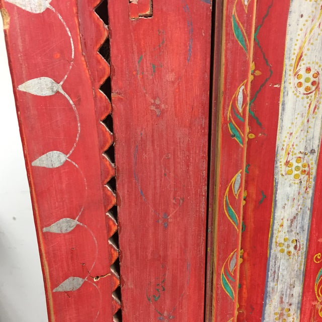 Vintage Hand Painted Moroccan Armoire For Sale - Image 10 of 11
