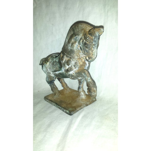 Antique Chinese Cast Iron Tang Horse Figurine - Image 3 of 7