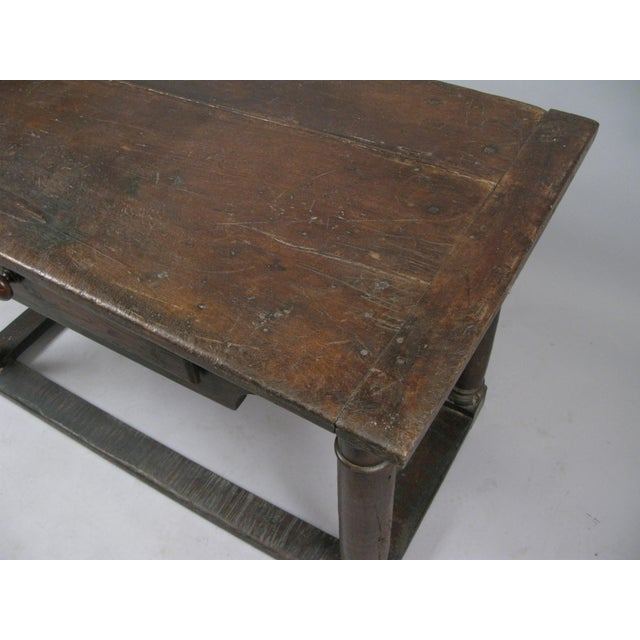 18th Century 18th Century Antique Italian Walnut Table For Sale - Image 5 of 8