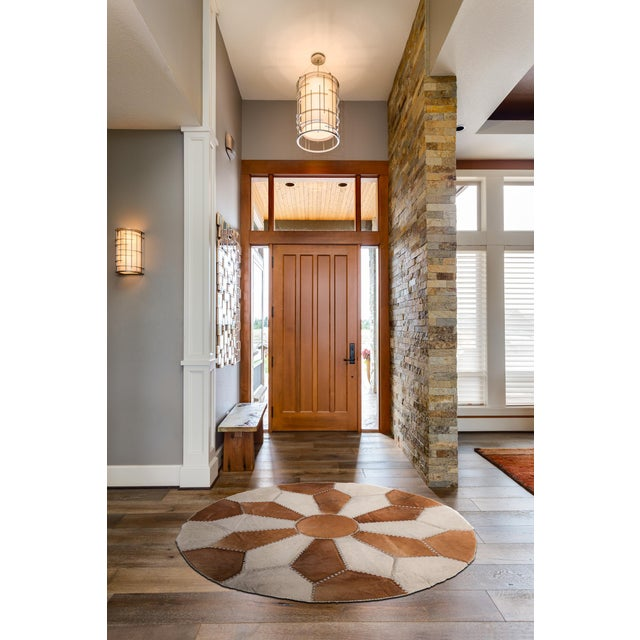 """Cowhide Patchwork Area Rug - 5'9"""" x 5'9"""" - Image 10 of 10"""