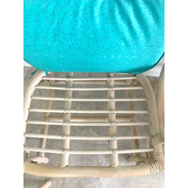 Vintage McGuire Cracked Ice Rattan Chairs - Set of 4 For Sale In Orlando - Image 6 of 7
