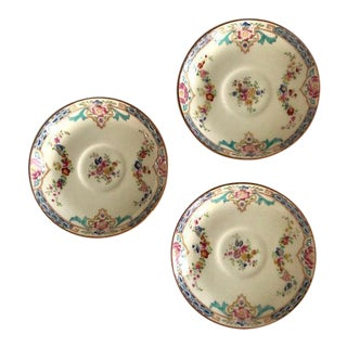 Antique Minton for Tiffany Saucers - Set of 3