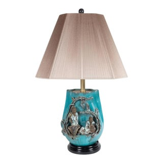 Mid-Century Modern Table Lamp by Marcello Fantoni in Glazed Stoneware For Sale