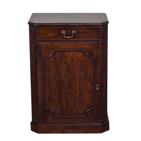 George III Antique English Mahogany Cabinet circa 1780 For Sale