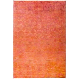 """Kaliedo, Coral Vibrance Area Rug - 6' 3"""" X 9' 1"""" For Sale"""