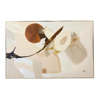 Contemporary Signed Abstract Oil Painting For Sale