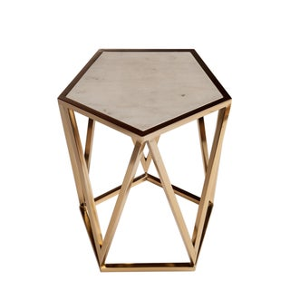 Charlyn Marble Top Side Table Preview