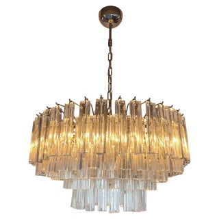 Italian Two Layered Chandeliers by Venini For Sale